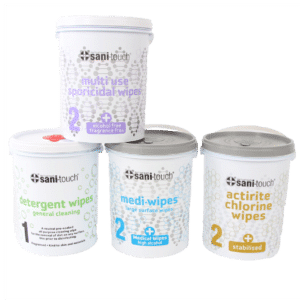 Medi-touch Medical wipes, detergent, chlorine, sporicidal